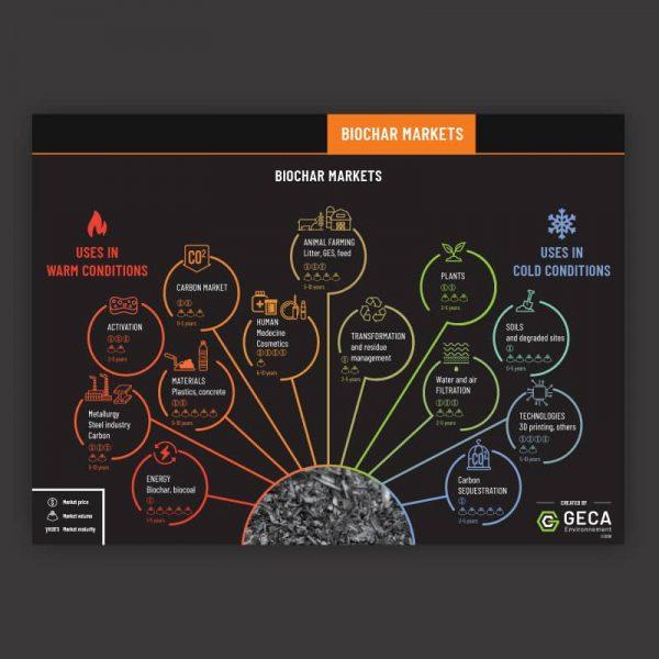 Biochar markets infographic cover