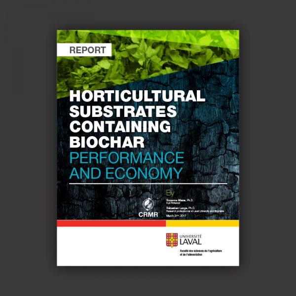 Biochar horticultural substrate