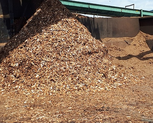 biomass bark feedstock for pyrolysis